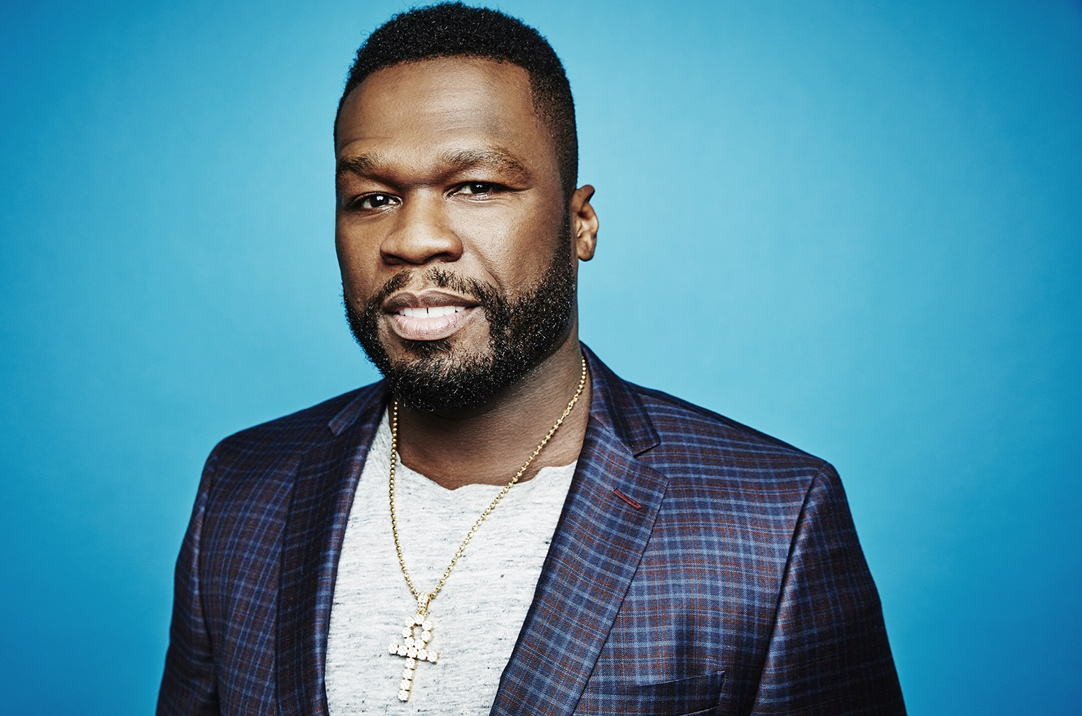 50 Cent photographed at the 2016 Summer TCAs