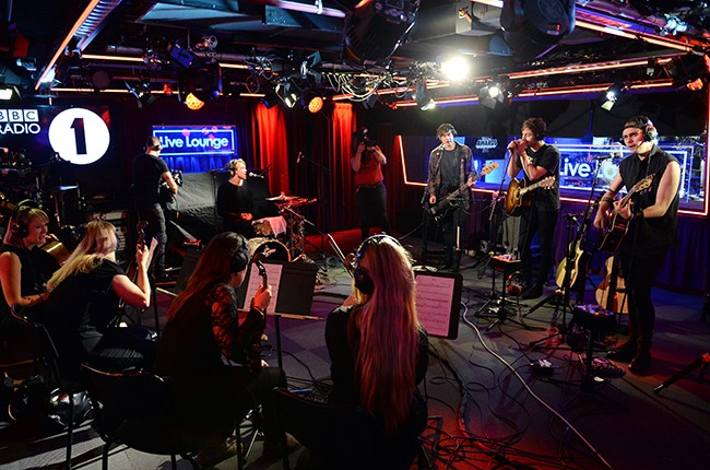 5 Seconds of Summer appear live on the BBC Radio 1 Breakfast Show with Nick Grimshaw