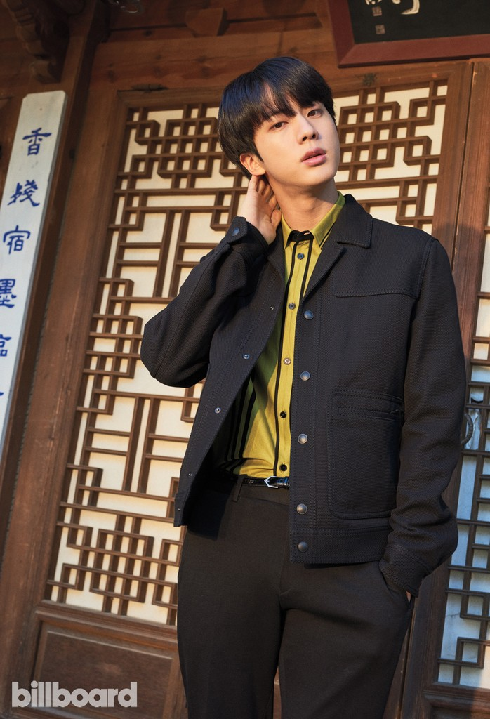 Jin photographed on Jan. 19, 2018 at Korea House in Seoul.