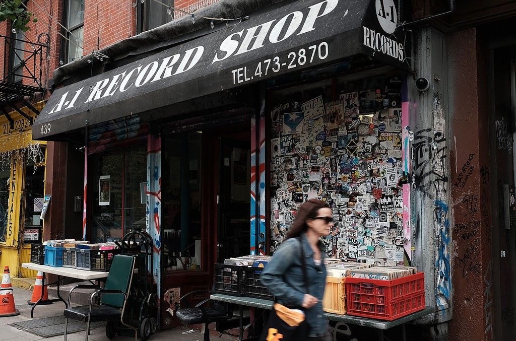 A-1 Record store in New York City.