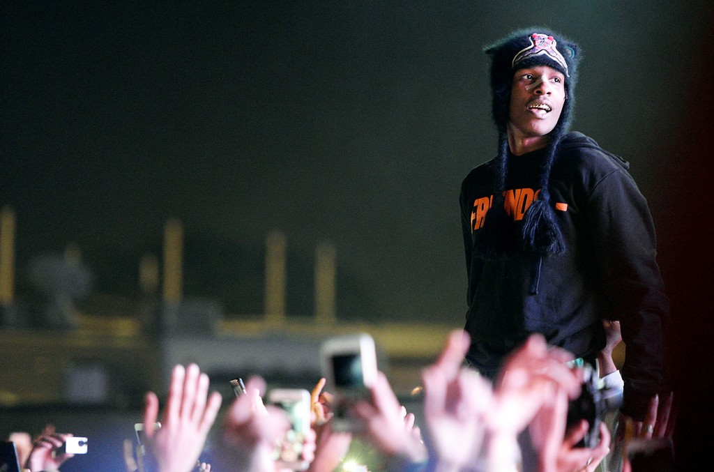 A$AP Rocky performs onstage during the 5th annual Camp Flog Gnaw Festival at Exposition Park on Nov. 12, 2016 in Los Angeles.