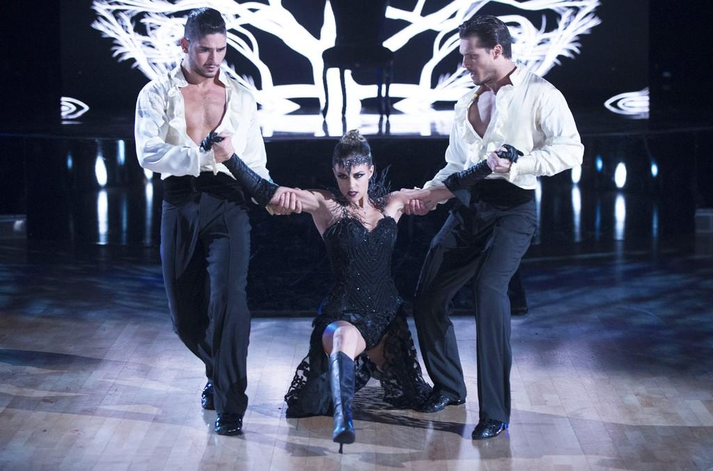 "Alan Bersten, Jana Kramer and Gleb Savchenko on ""Dancing with the Stars"" on Nov. 14, 2016"