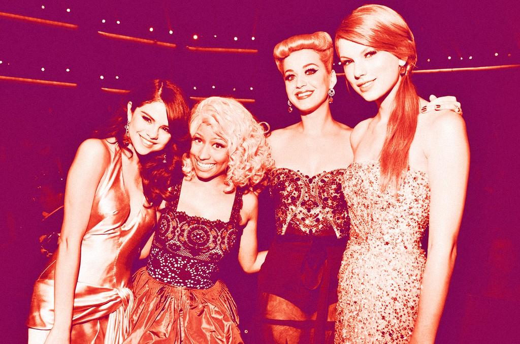 Selena Gomez, Nicki Minaj, Katy Perry & Taylor Swift, 2011