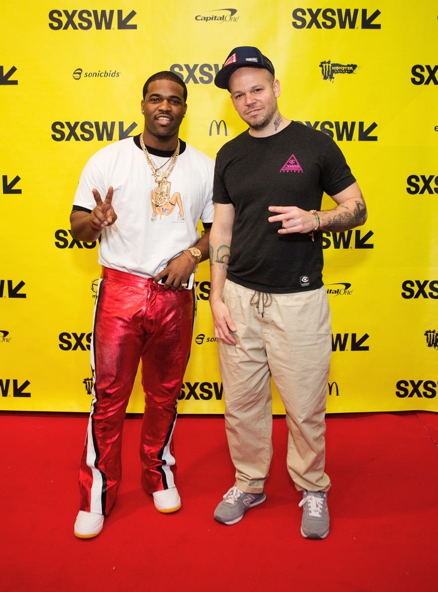 A$AP Ferg and Rene Perez Joglar aka Residente attend 'Digital Revolution: A Look at Music's New Frontier' during 2017 SXSW Conference and Festivals at Austin Convention Center on March 15, 2017 in Austin, Texas.