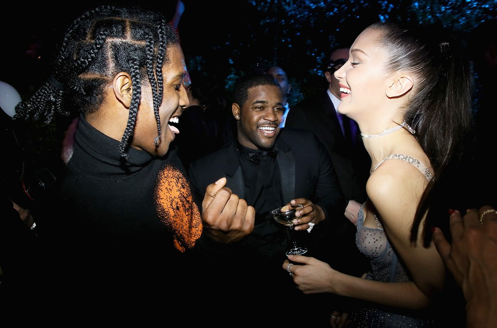 ASAP Rocky, ASAP Ferg, and Bella Hadid attend the Christian Dior Haute Couture Spring Summer 2017 Bal Masque as part of Paris Fashion Week on Jan. 23, 2017 in Paris, France.