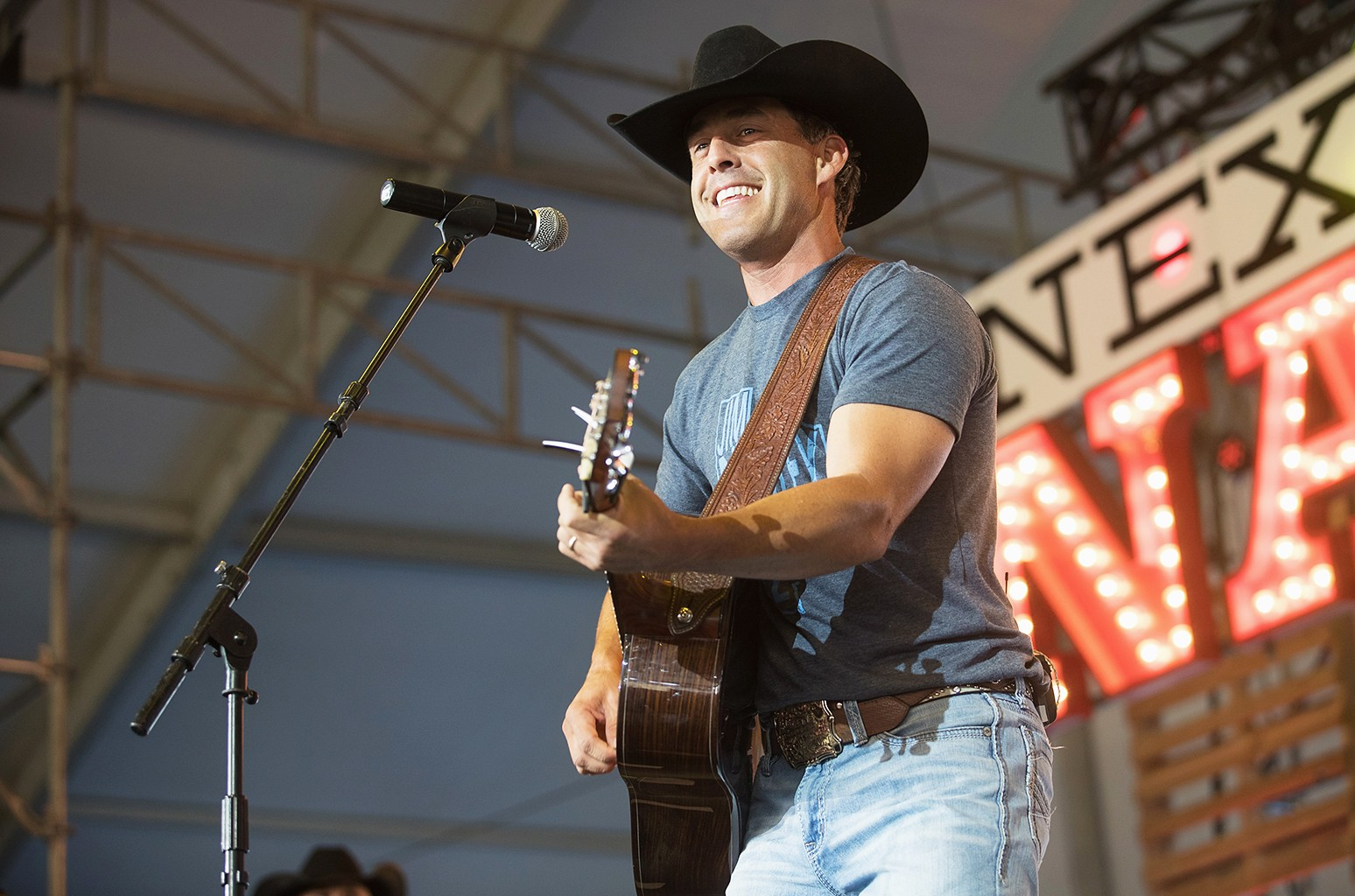Aaron Watson performs during the Watershed Music Festival at Gorge Amphitheatre on July 31, 2016 in George, Wash.