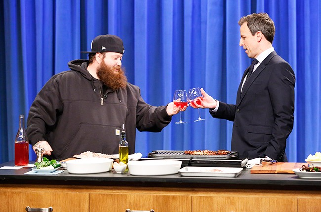 Action-Bronson-cooking-late-night-seth-meyers-april-2016