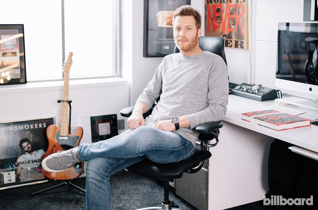 """""""We care about the artist's career as a whole and not just about the records — that's the foundation upon which Disruptor was built,"""" says Alpert, photographed March1 at Disruptor Records in New York."""