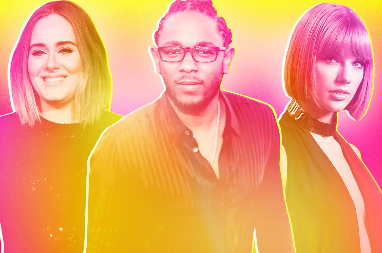 Adele, Kendrick Lamar & Taylor Swift
