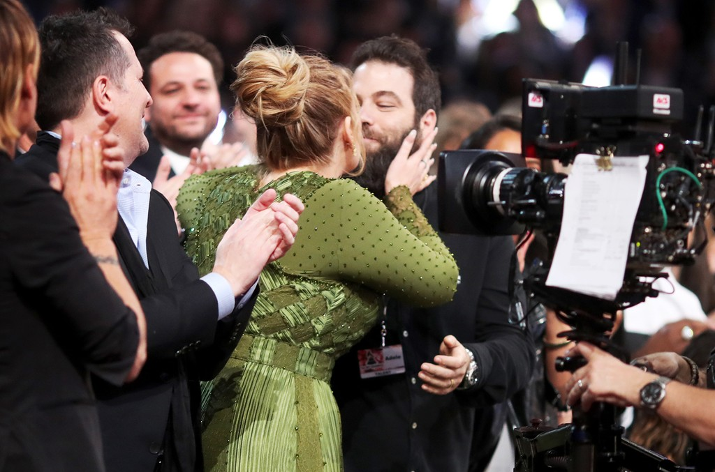 Adele during The 59th Grammy Awards at STAPLES Center on Feb. 12, 2017 in Los Angeles.