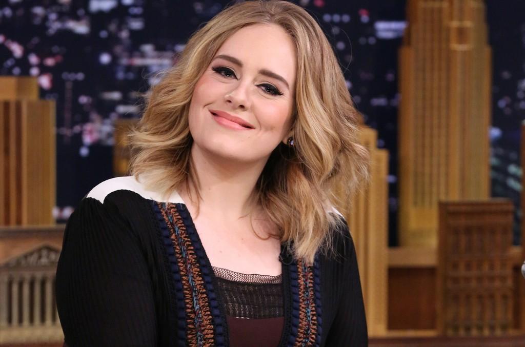 Adele on The Tonight Show Starring Jimmy Fallon on Nov. 23, 2015.
