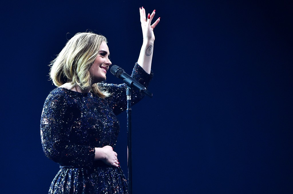 Adele performs on stage at The O2 Arena on March 15, 2016 in London, England.