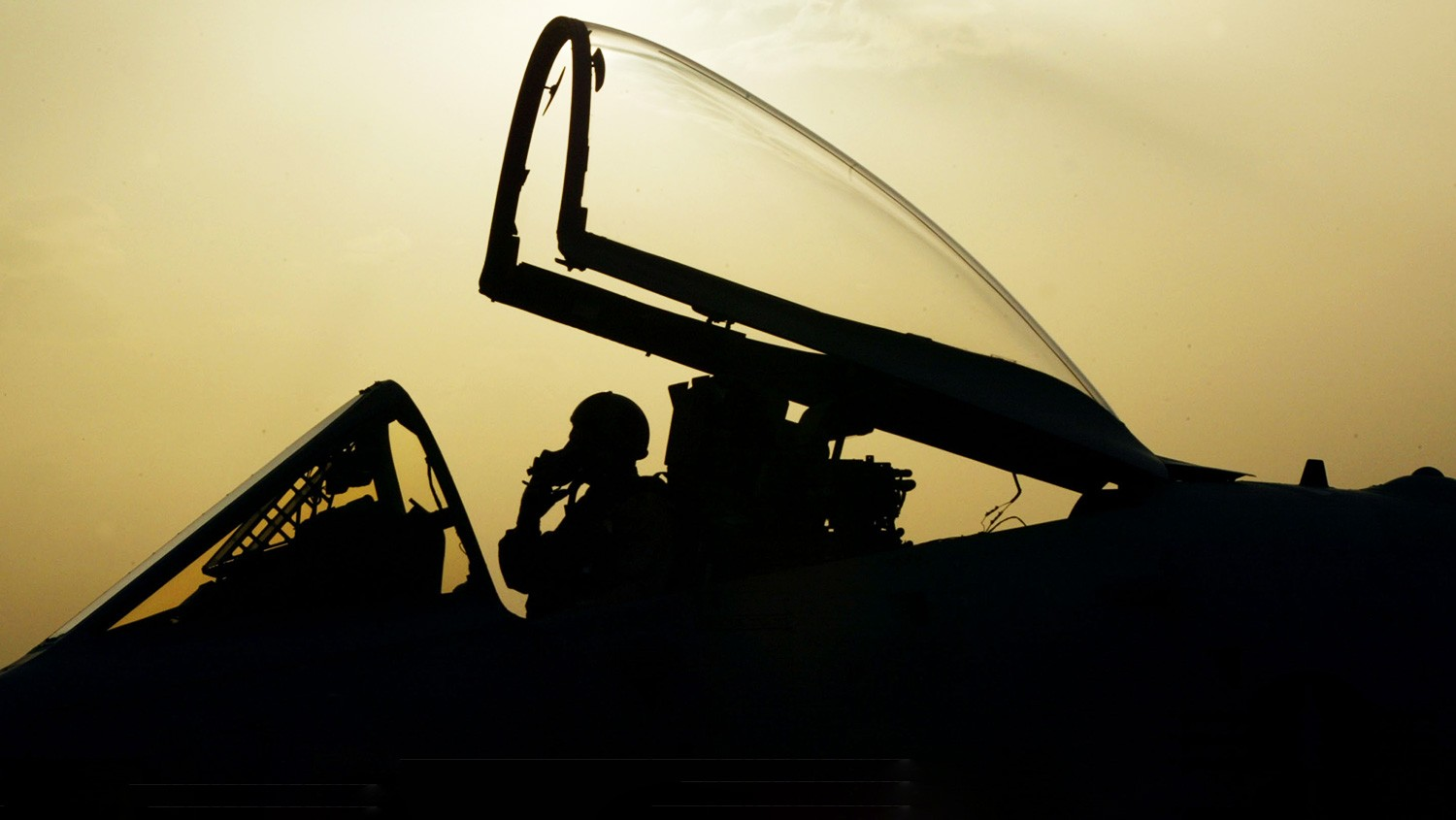 An A-10 Warthog pilot taxis on the flight line before takeoff.