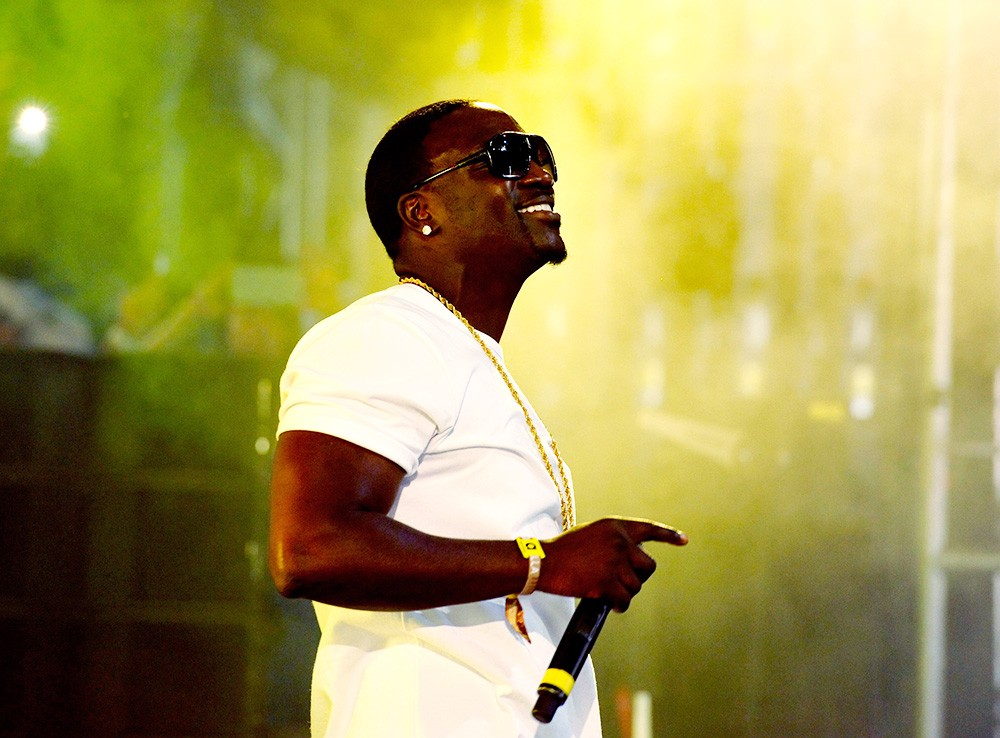 Akon performs onstage with DJ Matoma
