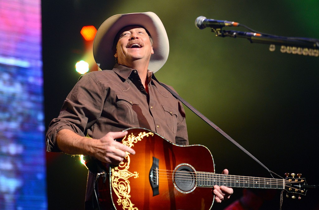 Alan Jackson performs on stage at Nokia Theatre L.A. Live on Feb. 27, 2015 in Los Angeles.