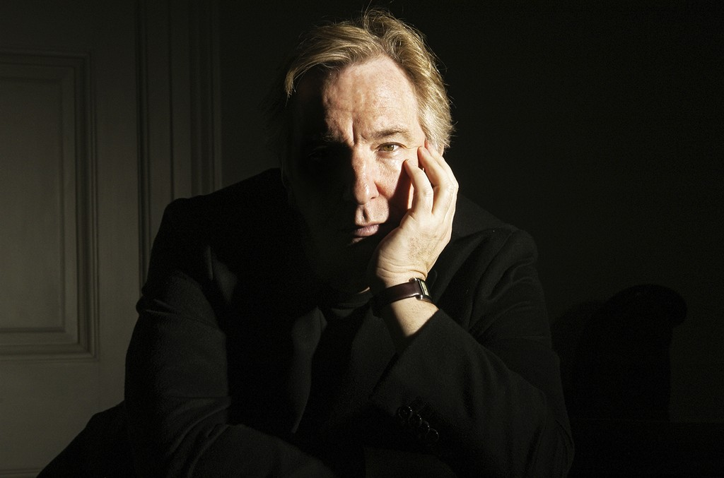 Alan Rickman poses during a photo call held on March 9, 2004 at his home in London, England.
