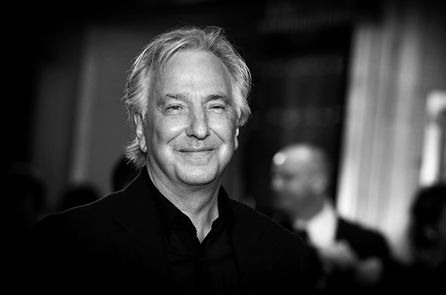 Alan Rickman photographed on Oct 17, 2014 in London.