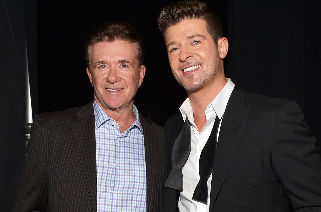 Alan Thicke and Robin Thicke attend The Grammy Nominations Concert Live!! Countdown to Music's Biggest Night at Nokia Theatre L.A. Live on Dec. 6, 2013 in Los Angeles.