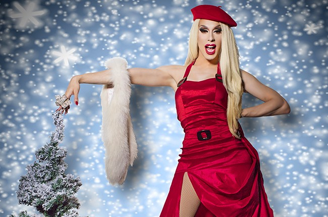 """Alaska Thunderfuck photographed in 2015 for the album """"Christmas Queens."""""""