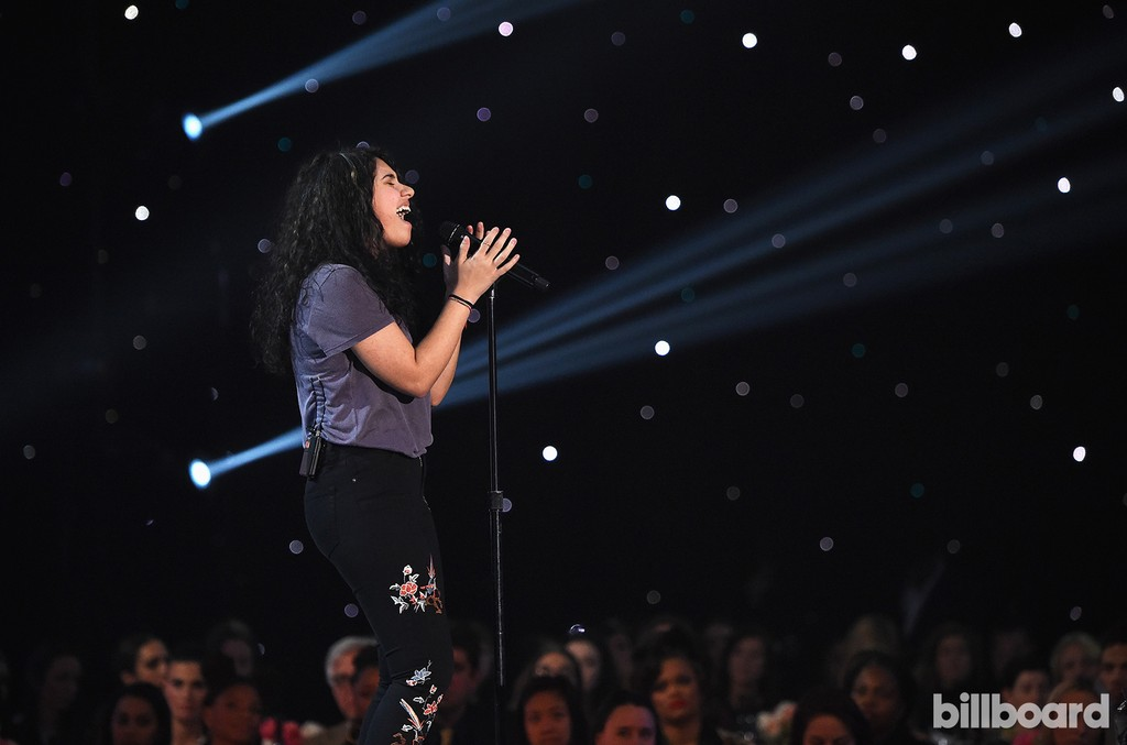 Alessia Cara performs onstage at the Billboard Women in Music 2016 event on Dec. 9, 2016 in New York City.