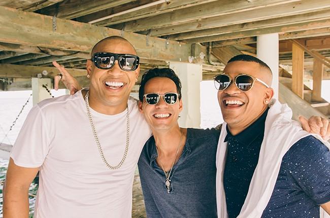 Alexander Delgado, Marc Anthony and Randy Martinez