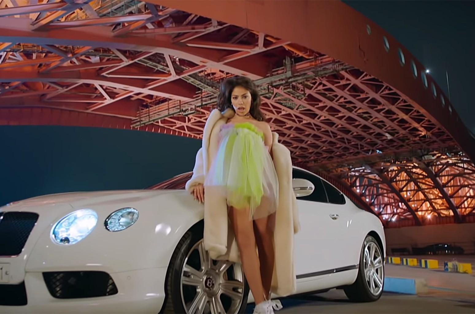 "Alexandra Reid of Rania in their music video, ""Start A Fire"""