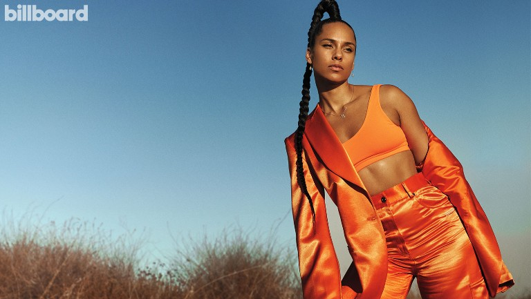 <p>Alicia Keys photographed on Nov. 6, 2019 at Moonfire Ranch in Topanga, Calif. Styling by Jason Bolden Off White jacket and pants, Alo top, Almasika earrings and necklace.</p>