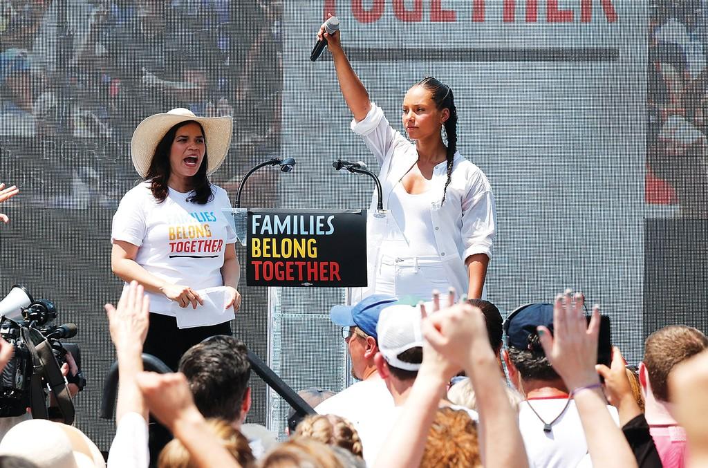 America Ferrera and Alicia Keys