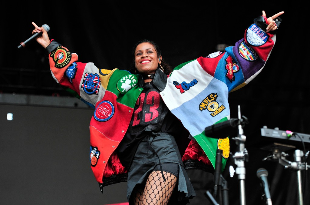 Aluna Francis of AlunaGeorge performs on day 1 at Lollapalooza in Grant Park on July 28, 2016 in Chicago.