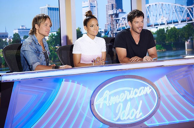 Keith Urban, Jennifer Lopez and Harry Connick, Jr.