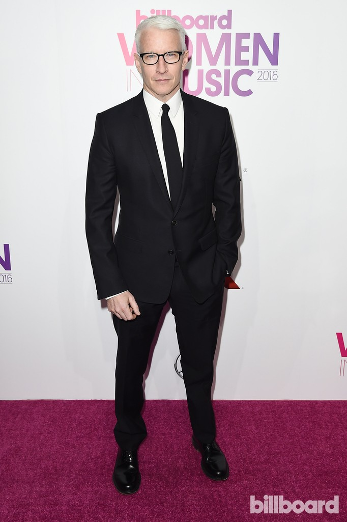 Anderson Cooper attends the Billboard Women in Music 2016 event on Dec. 9, 2016 in New York City.
