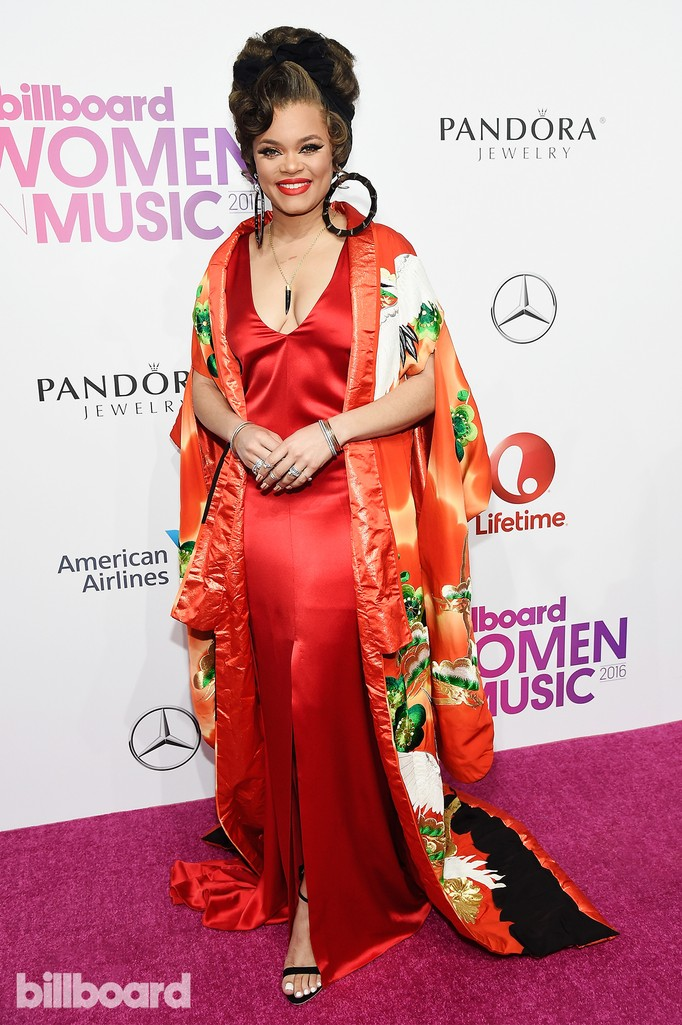 Andra Day attends the Billboard Women in Music 2016 event on Dec. 9, 2016 in New York City.