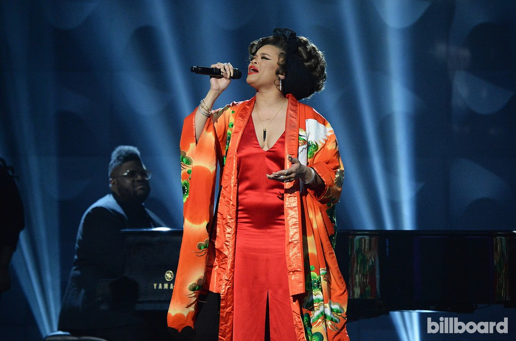 Andra Day performs at the Billboard Women in Music 2016 event on Dec. 9, 2016 in New York City.