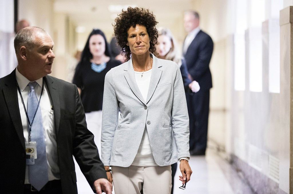Andrea Constand walks to the courtroom for the trial of Bill Cosby on sexual assault charges at the Montgomery County Courthouse on June 6, 2017 in Norristown, Pa.