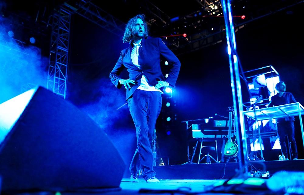 Andrew Wyatt of the band Miike Snow, Coachella