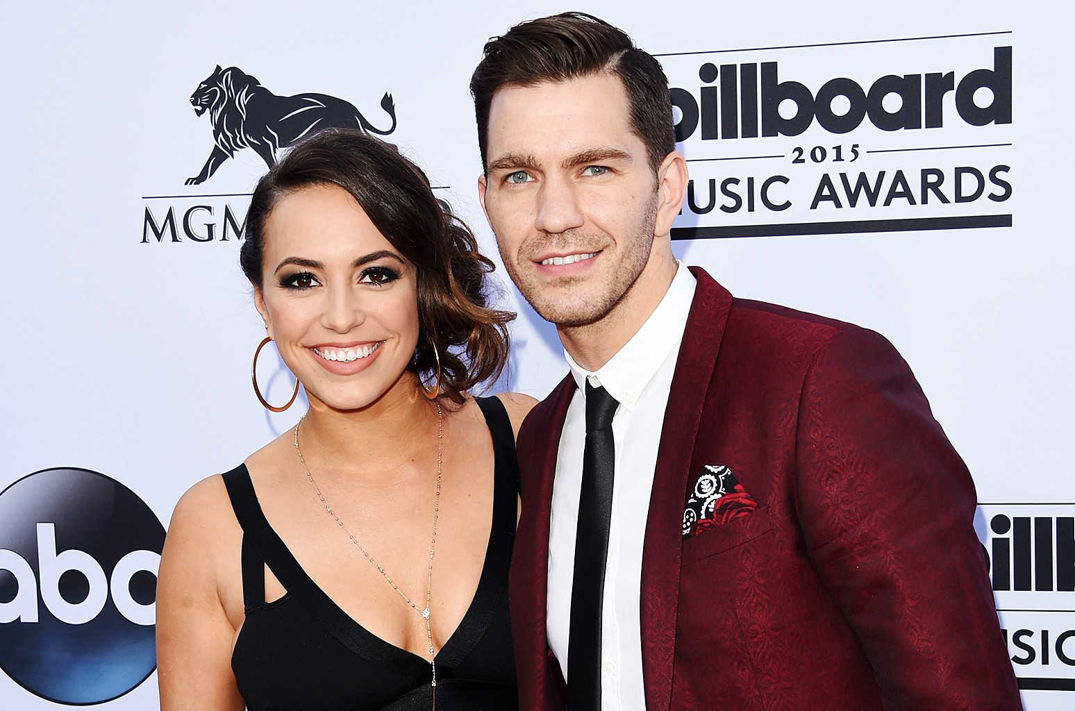 Aijia Lise and Andy Grammer attend the 2015 Billboard Music Awards at MGM Grand Garden Arena on May 17, 2015 in Las Vegas.