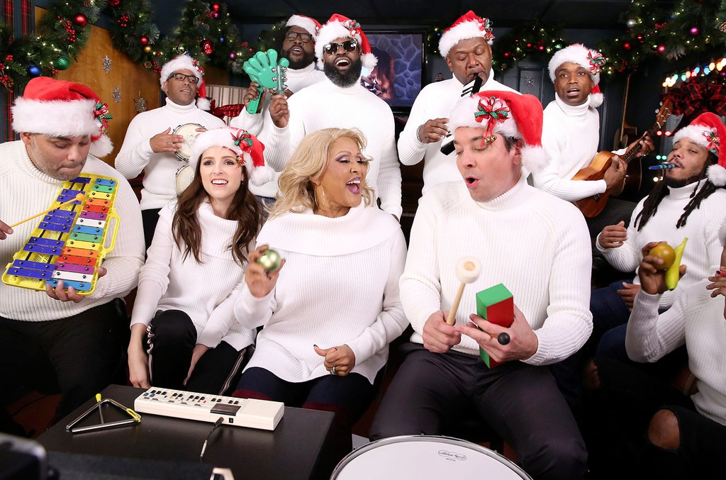 Anna Kendrick, Singer Darlene Love, Host Jimmy Fallon with The Roots