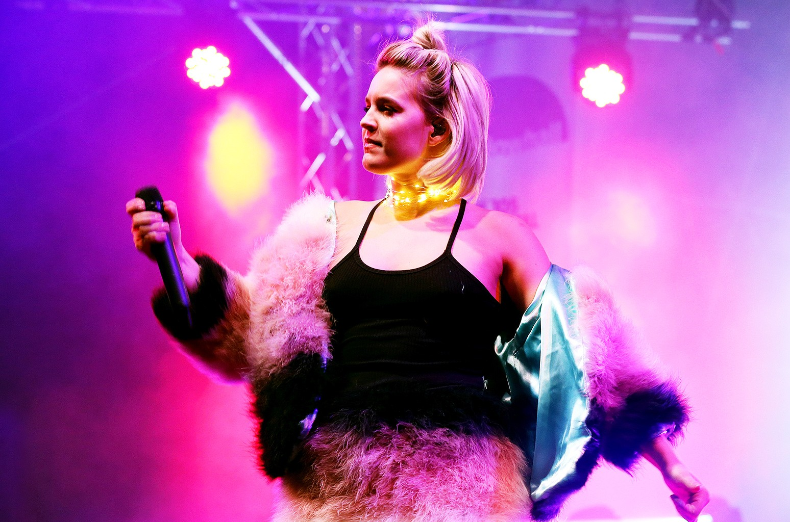 Anne-Marie performs at Meadowhall Presents Christmas Live at Meadowhall Shopping Centre on Nov. 3, 2016 in Sheffield, England.