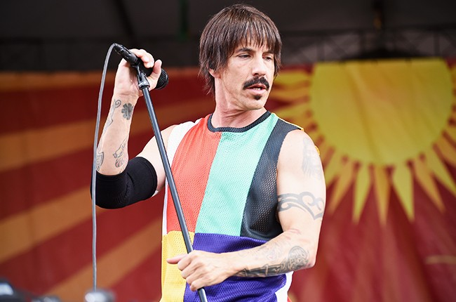 Anthony Kiedis of the Red Hot Chili Peppers