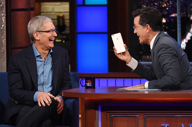 Apple CEO Tim Cook on The Late Show with Stephen Colbert
