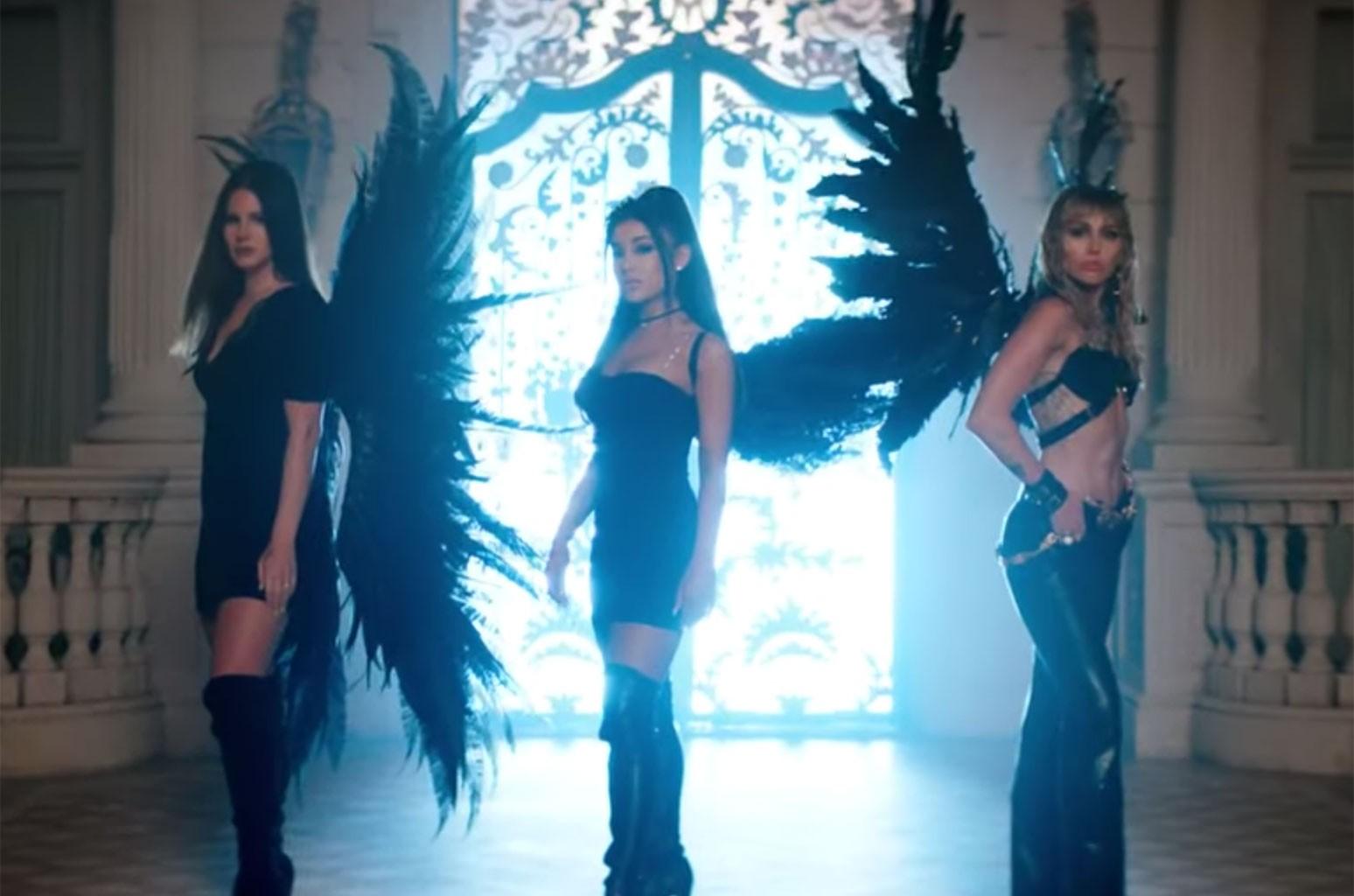 "Ariana Grande, Miley Cyrus, Lana Del Rey ""Don't Call Me Angel"""