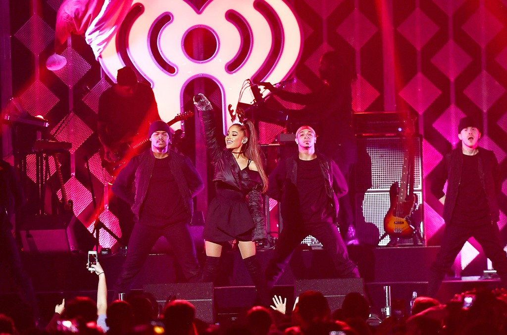 Ariana Grande performs onstage during Power 96.1's Jingle Ball 2016 at Philips Arena on Dec. 16, 2016 in Atlanta.