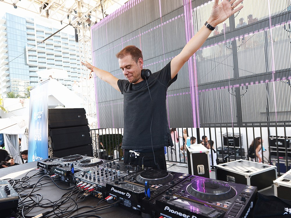 Armin van Buuren performs at The SiriusXM Music Lounge at 1 Hotel South Beach during Ultra Music Festival