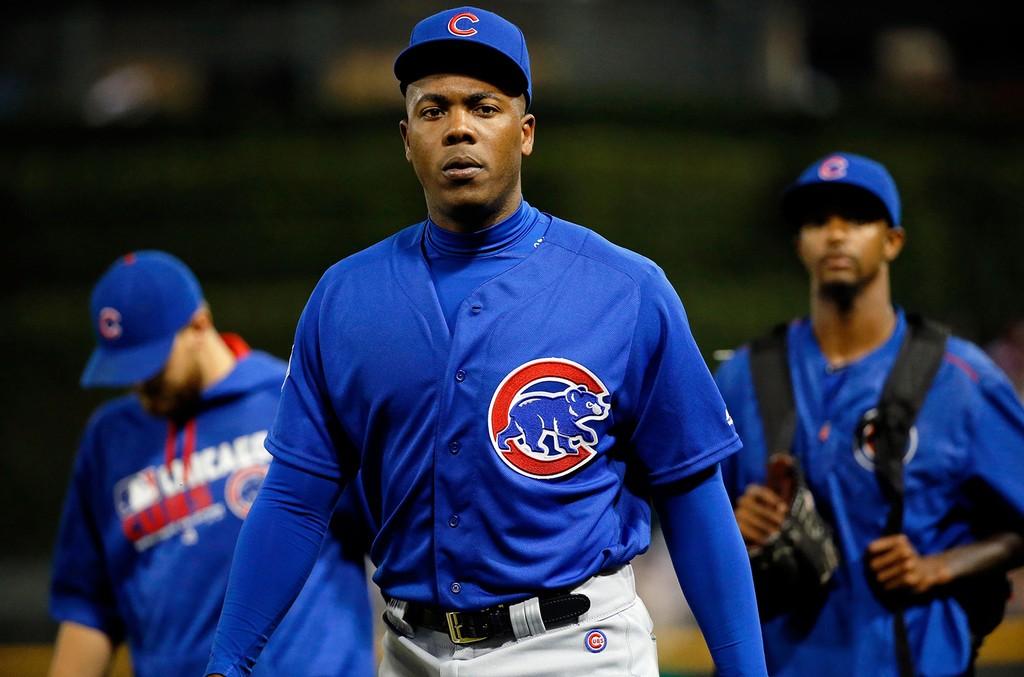 Aroldis Chapman of the Chicago Cubs