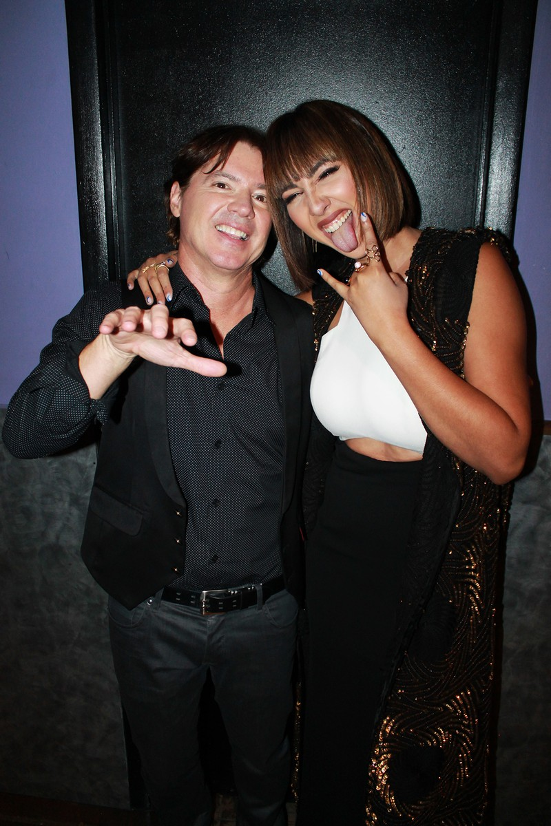 Arthur Hanlon and Jackie Cruz backstage after his concert at the Highline Ballroom in New York City.