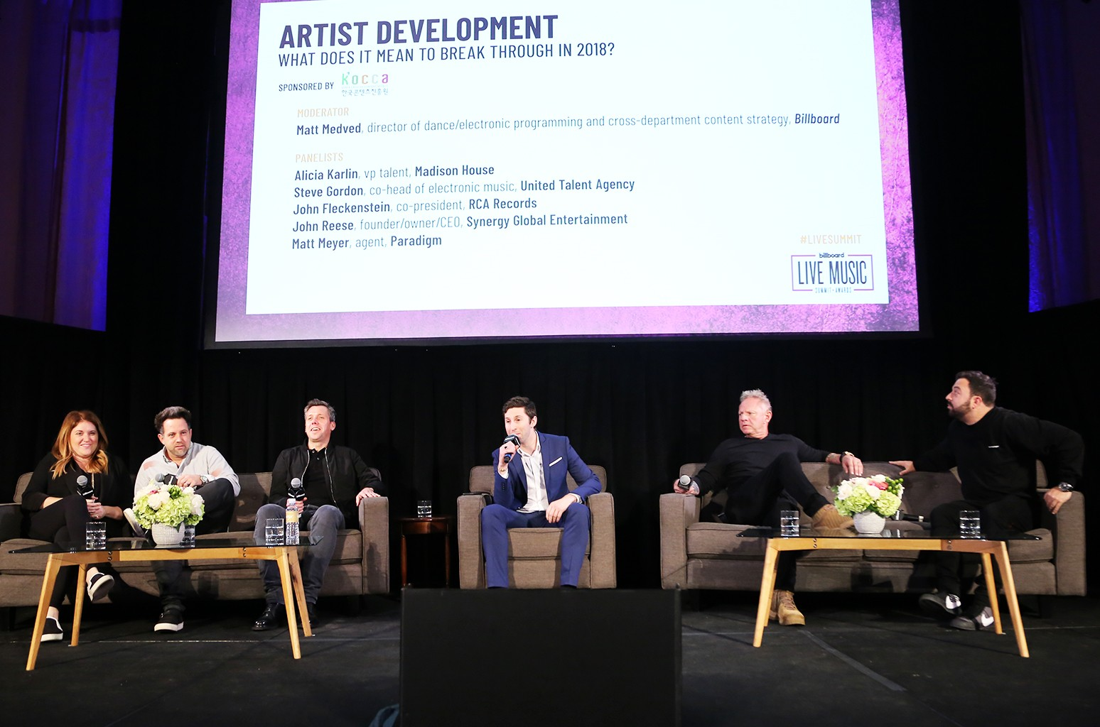'Artist Devlopment: What Does it Mean to Break Through in 2018?' panel during the 2018 Billboard Live Music Summit + Awards at the Montage Beverly Hills on Nov. 14, 2018 in Beverly Hills, Calif.