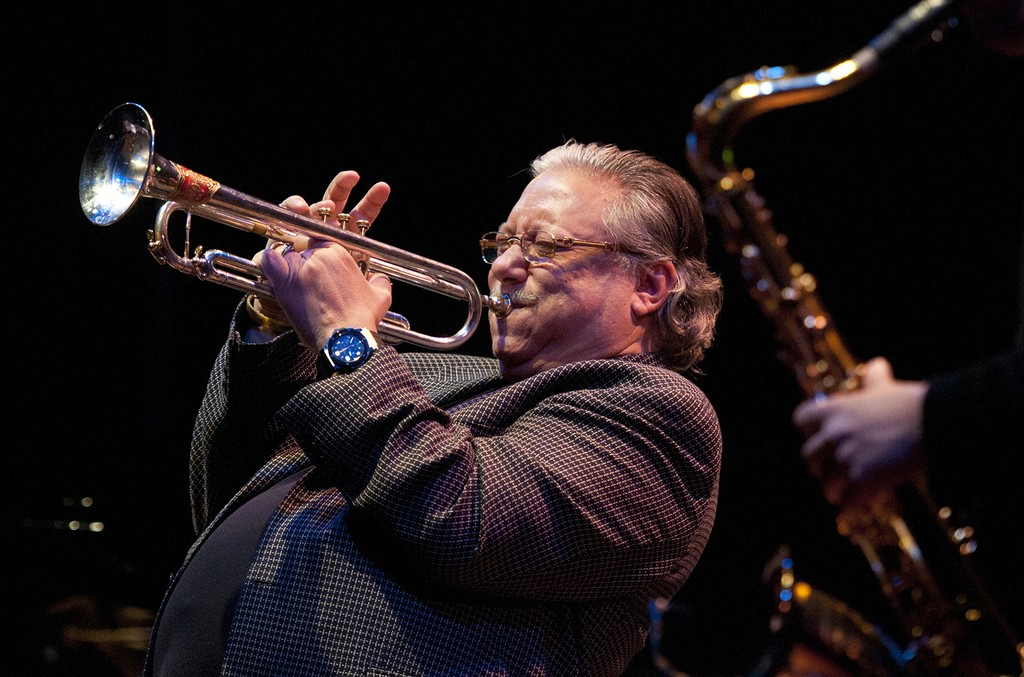 Arturo Sandoval performs on stage at Bristol Jazz and Blues Festival on March 3, 2013 in Bristol, England.