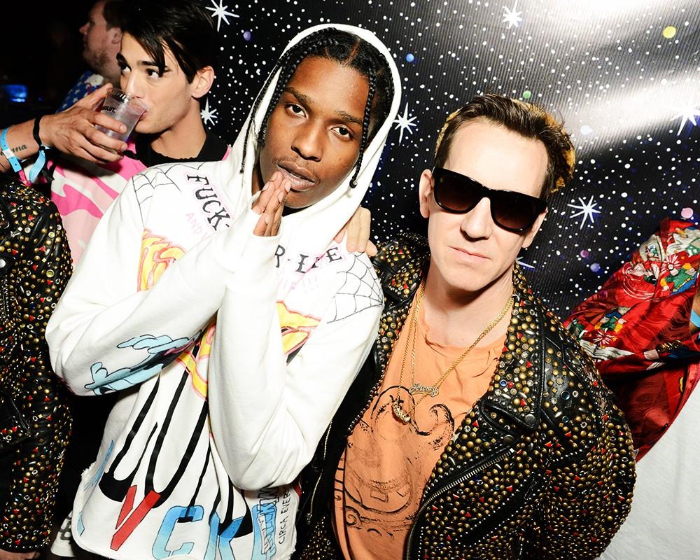 Asap Rocky and Jeremy Scott, Coachella