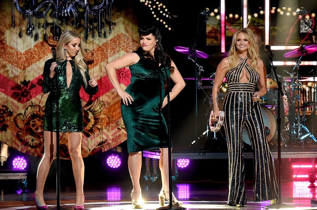 Ashley Monroe, Angaleena Presley and Miranda Lambert of musical group Pistol Annies