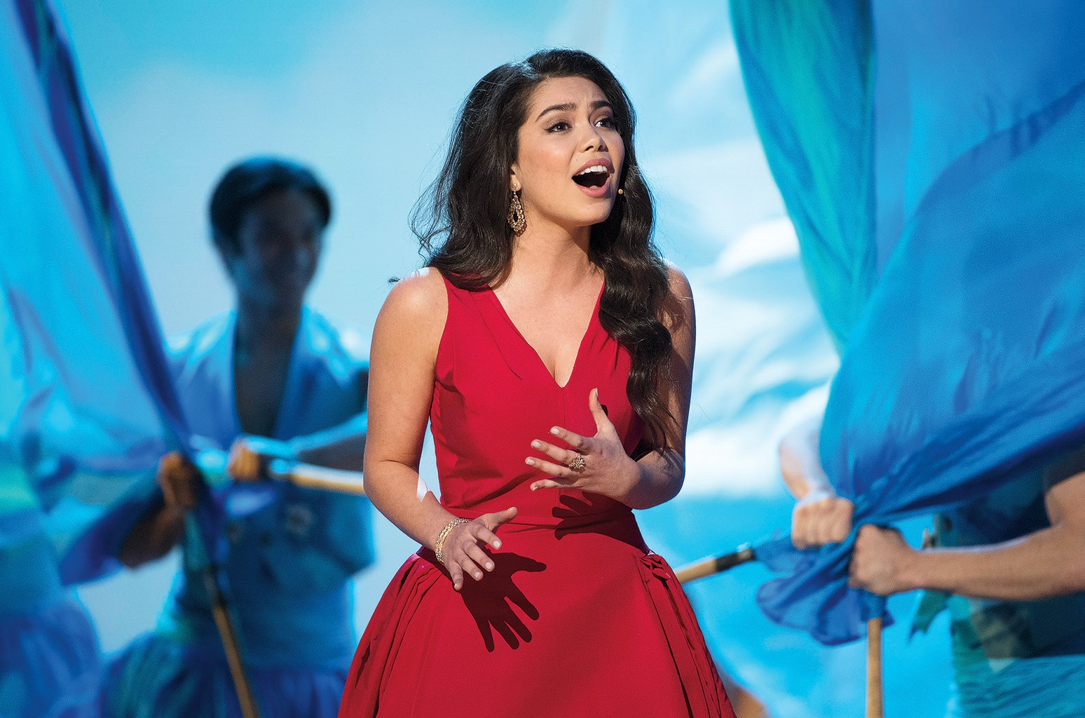 Auli'i Cravalho performs at the 89th Annual Academy Awards on Feb. 26, 2017.